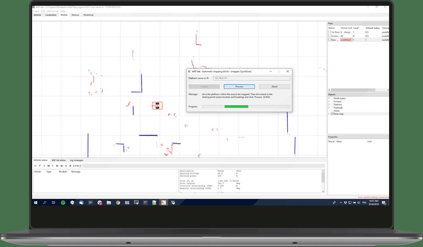 ANT lab logiciel