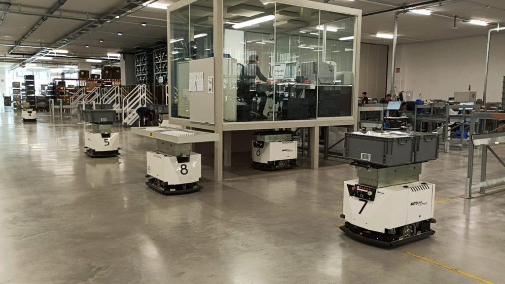 BlueBotics Autonomous Navigation drives Esatroll AGVs