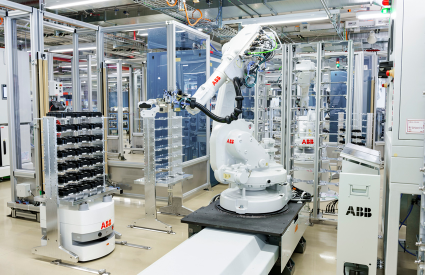 ABB mobile robot in operation