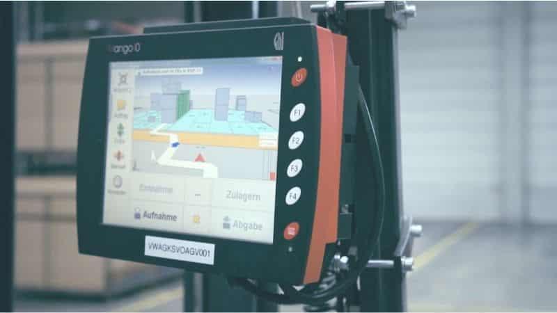 Sistema di localizzazione dei carrelli elevatori su un carrello elevatore
